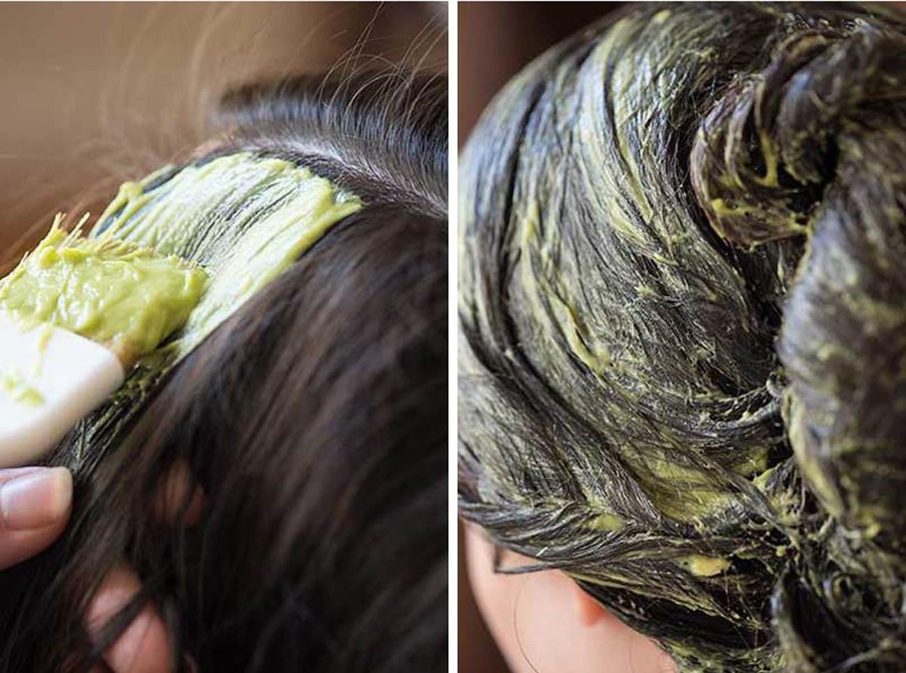 ủ tóc bằng quả bơ