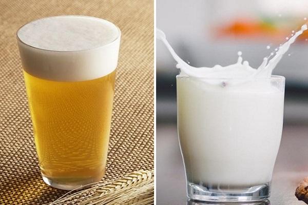 Bia kết hợp với sữa tươi mang đến một mái tóc phục hồi hư tổn nhanh chóng